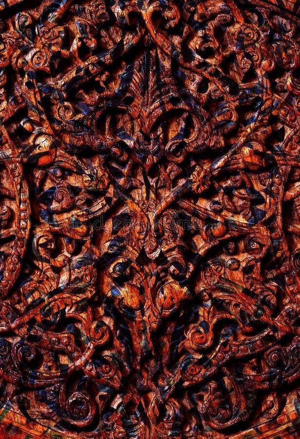 Abstracte sier houten lijnen Houten ornamentcollage royalty-vrije illustratie