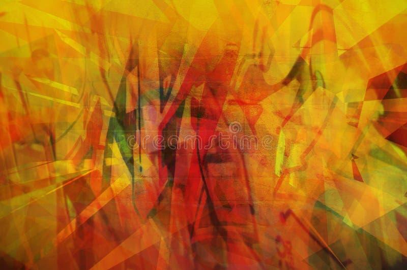 Abstracte Sinaasappel Stock Foto