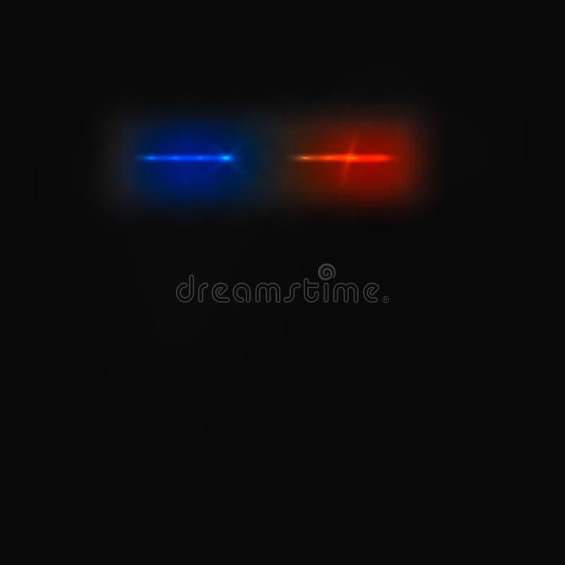 Abstracte sirenepolitiewagen royalty-vrije illustratie