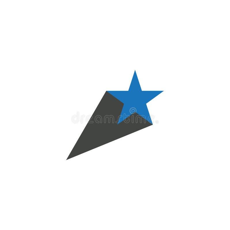 Abstracte sjabloon voor het ontwerpen van sterpictogrammen, geïsoleerde vector van het sjabloon royalty-vrije stock afbeeldingen
