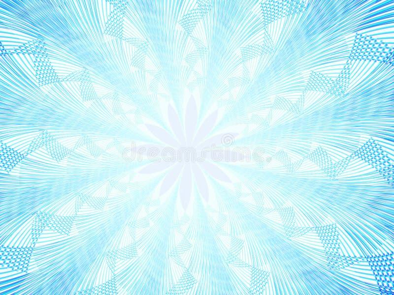 Abstracte sneeuwvlok stock illustratie