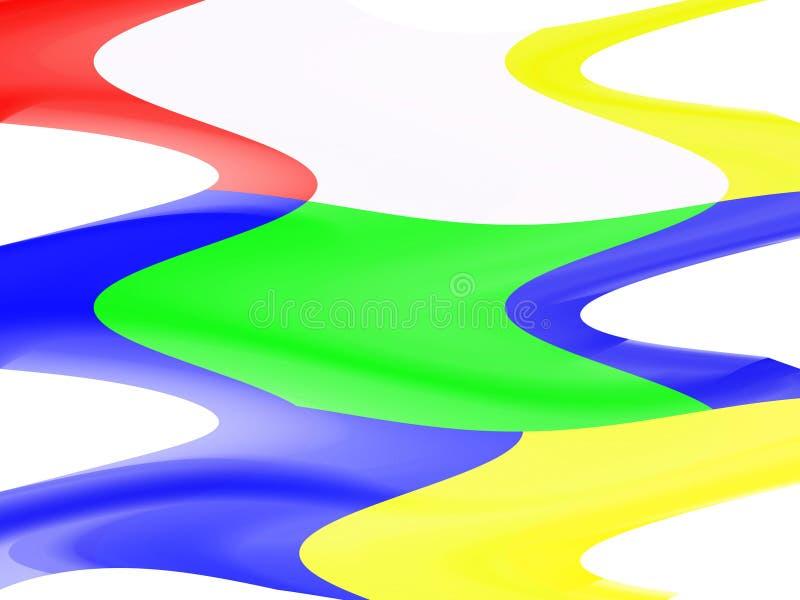 Abstracte speelse heldere regenboogvormen, meetkunde, heldere achtergrond, kleurrijke meetkunde stock illustratie