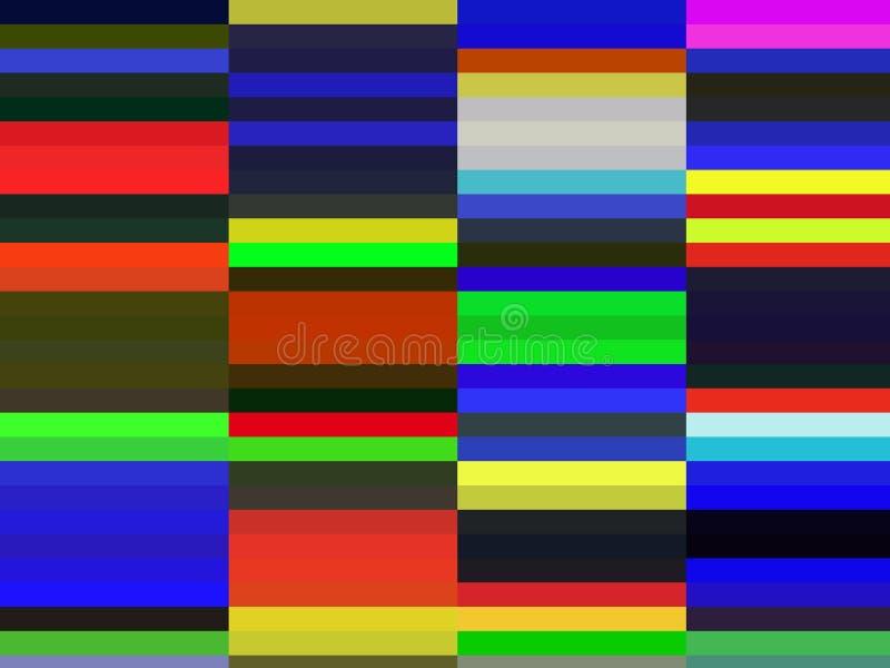 Abstracte speelse heldere vierkantenvormen, meetkunde, heldere achtergrond, kleurrijke meetkunde stock illustratie