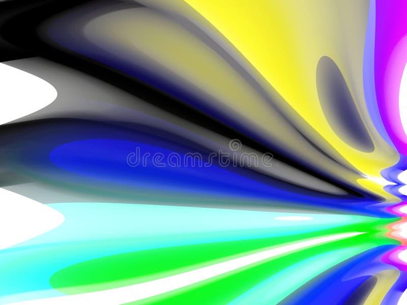 Abstracte speelse heldere vormen, meetkunde, heldere achtergrond, kleurrijke meetkunde royalty-vrije illustratie