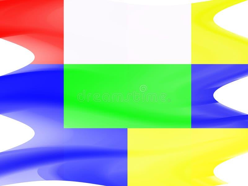 Abstracte speelse vormen, meetkunde, heldere achtergrond, kleurrijke meetkunde stock illustratie