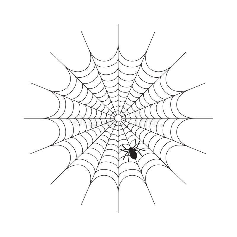 Abstracte Spiderweb op witte achtergrond stock afbeelding