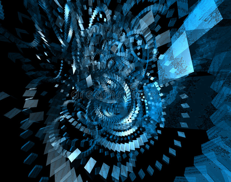 Abstracte spinnende dozen vector illustratie