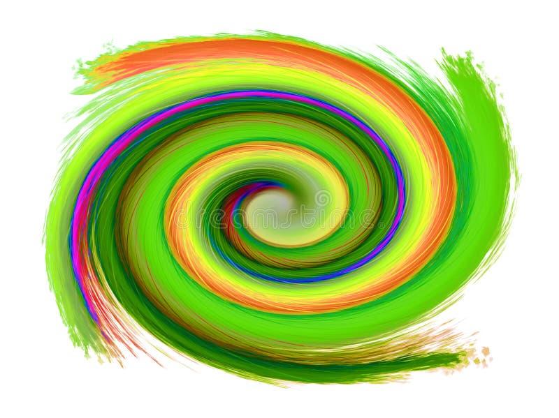 Abstracte spiraalvormige achtergrond royalty-vrije illustratie