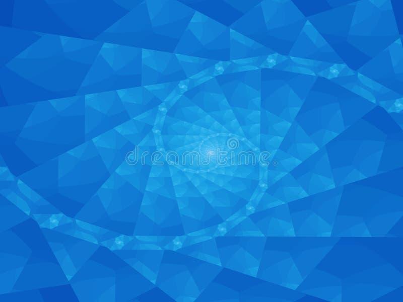 Abstracte spiraalvormige blauwe achtergrond vector illustratie