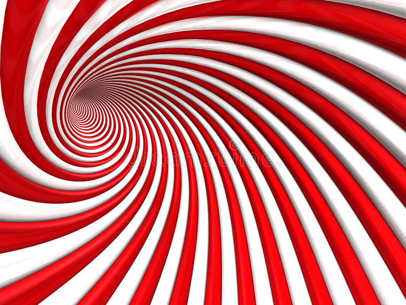 Abstracte Spiraalvormige de Tunnelachtergrond van het Streeppatroon vector illustratie