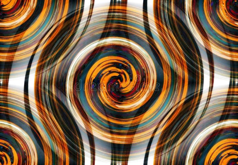 Abstracte spiraalvormige psychedelische fractal van vage kleuren royalty-vrije illustratie