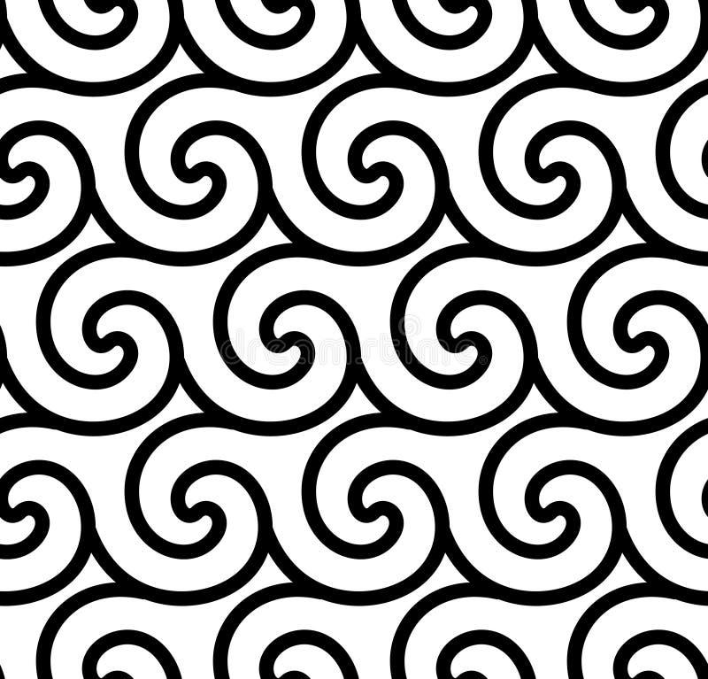 Abstracte spiraalvormige vector naadloze achtergrond royalty-vrije illustratie