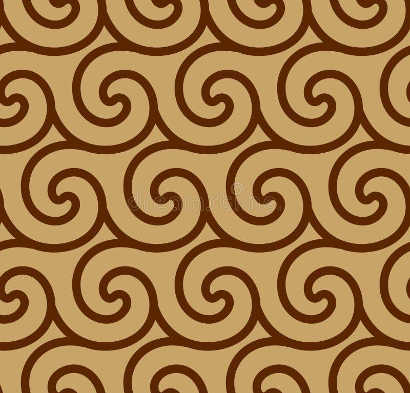 Abstracte spiraalvormige vector naadloze achtergrond stock foto