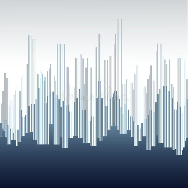 Abstracte stad royalty-vrije illustratie