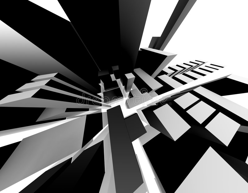Abstracte Stad vector illustratie