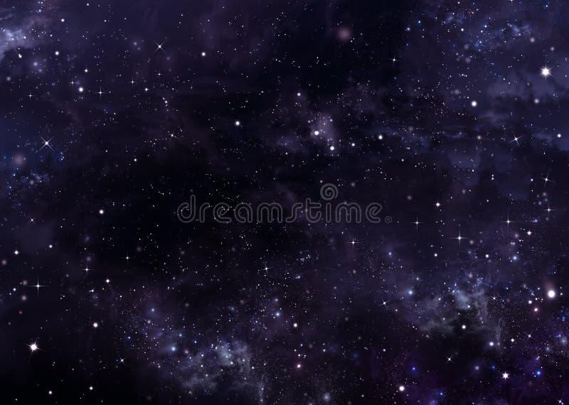 Abstracte sterrige hemel als achtergrond vector illustratie