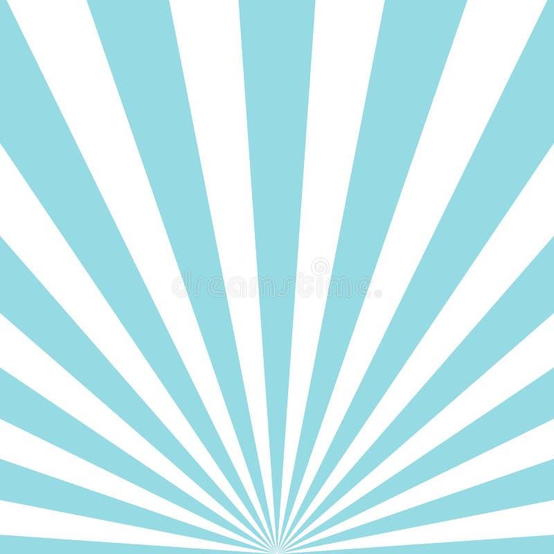 Abstracte stralen blauwe achtergrond vector illustratie