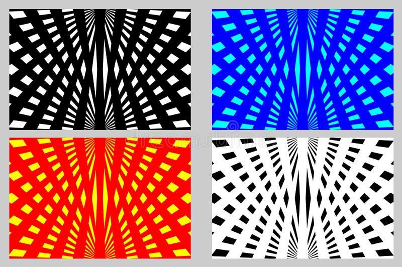 Abstracte stralen - gestreepte achtergrond stock illustratie