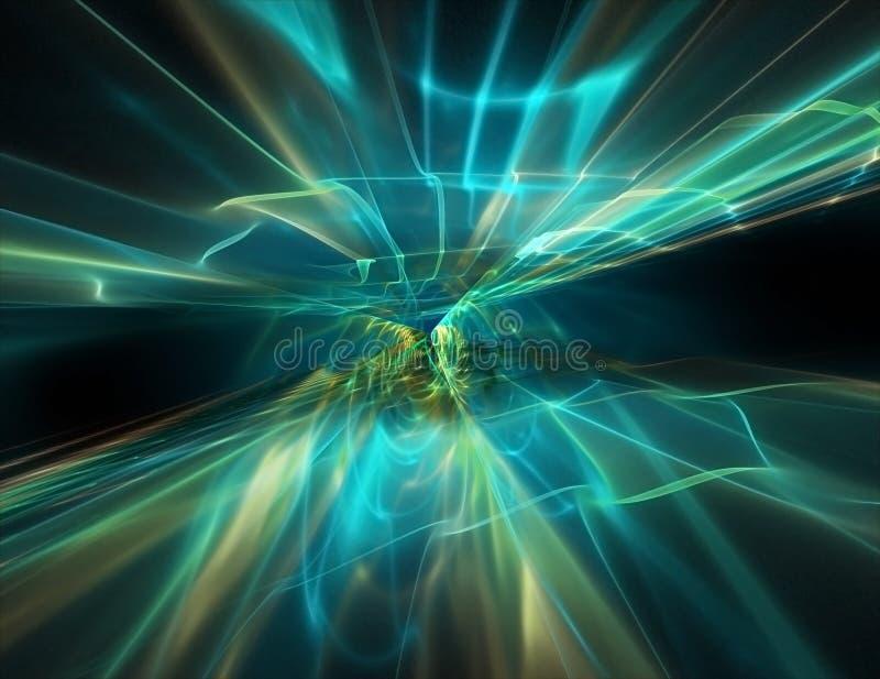 Abstracte stroom van energie stock illustratie