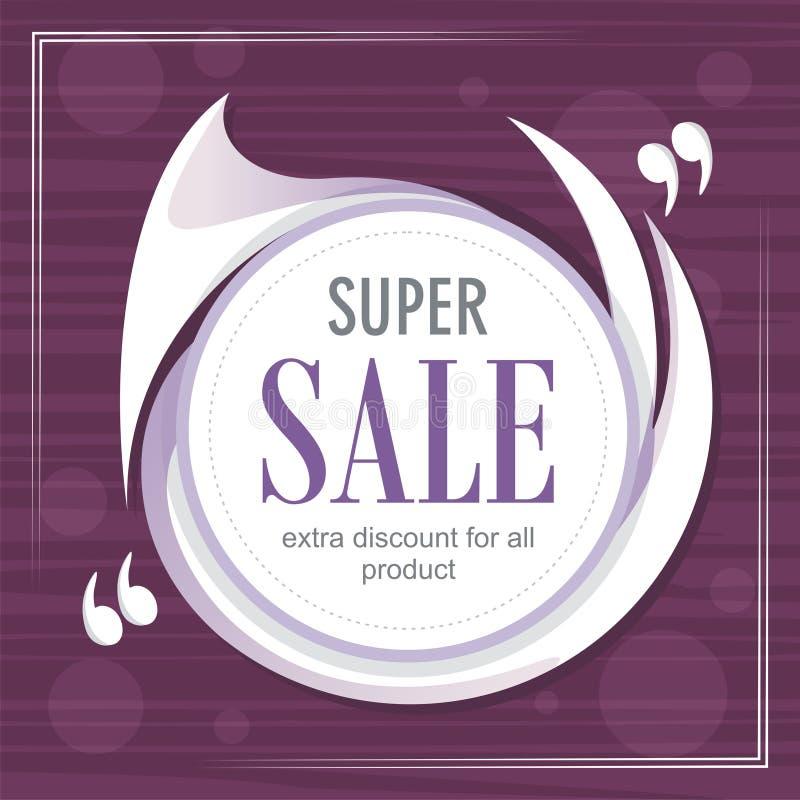 Abstracte super verkoop met moderne achtergrond stock illustratie