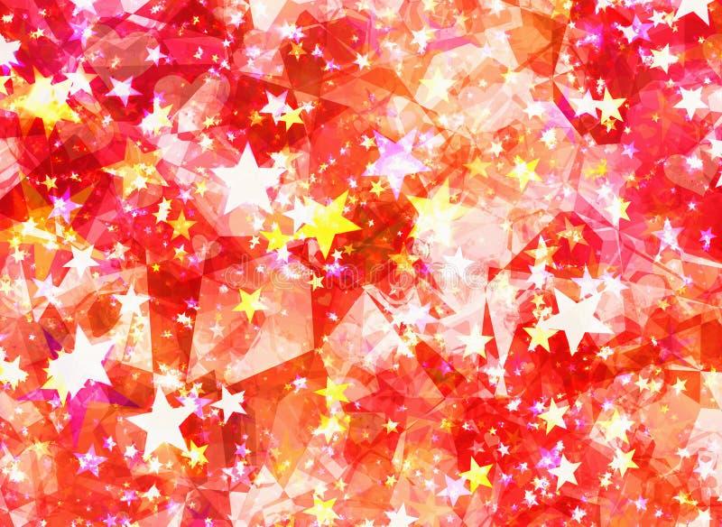 Abstracte surreal sterren en kristalachtergronden royalty-vrije illustratie