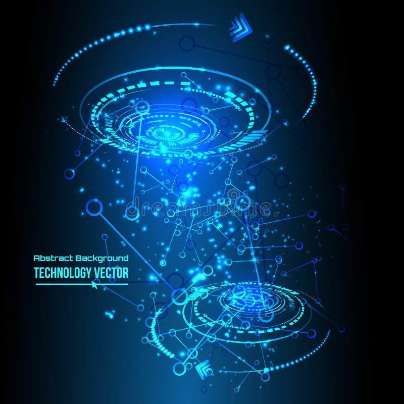 Abstracte technoachtergrond voor futuristisch high-tech ontwerp - vector vector illustratie
