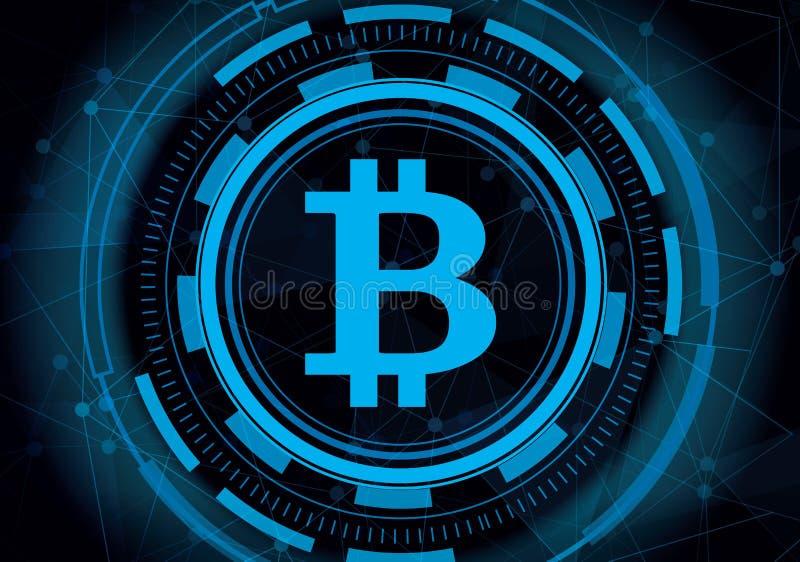 Abstracte technologie bitcoin met digitale lijnachtergrond crypto vector illustratie
