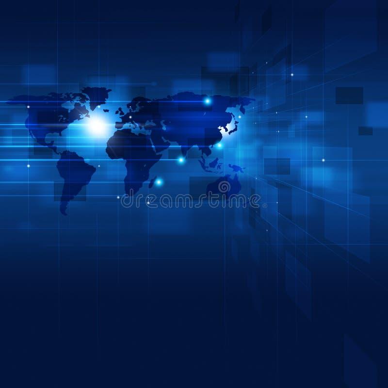 Abstracte Technologie Communicatie Achtergrond royalty-vrije illustratie