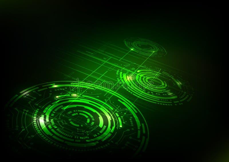 Abstracte Technologie Donkergroene Achtergrond vector illustratie