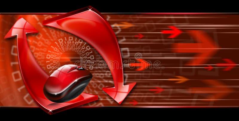 Abstracte technologie rode pijlen vector illustratie