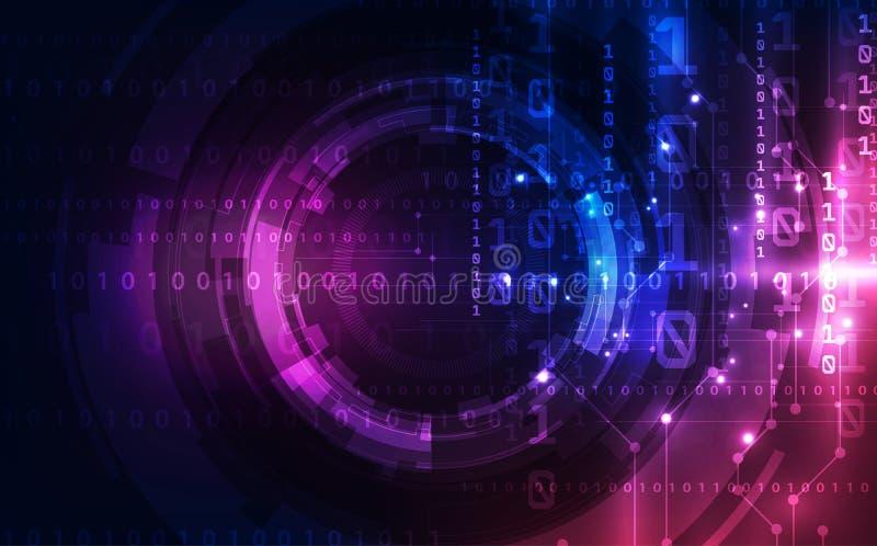 Abstracte technologieachtergrond De futuristische interface van de digitaal systeemtechnologie met geometrische vormen royalty-vrije illustratie