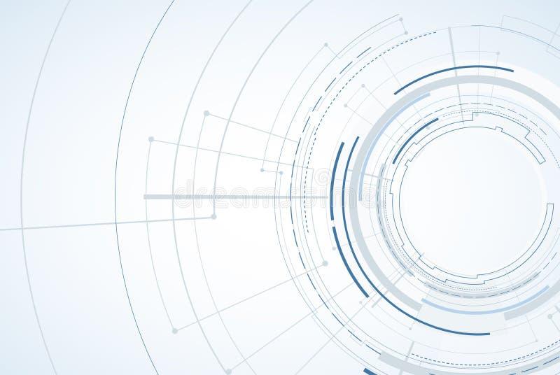 Abstracte technologieachtergrond Futuristische technologieinterface Vecto vector illustratie