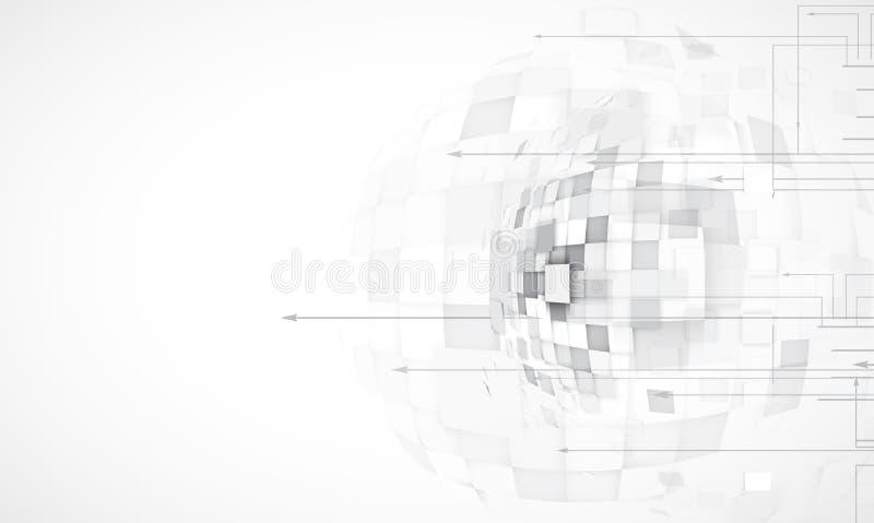 Abstracte technologieachtergrond Futuristische technologieinterface Vecto royalty-vrije illustratie