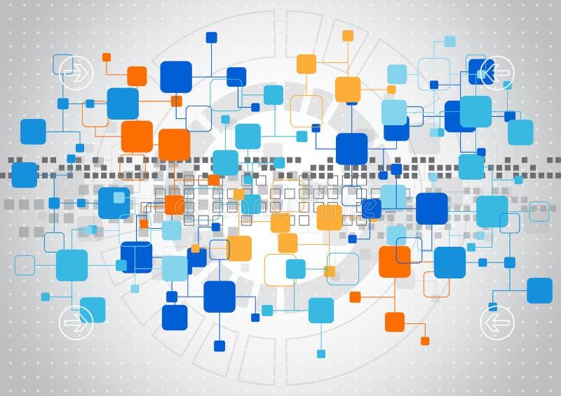 Abstracte technologieachtergrond met diverse technologische elementen