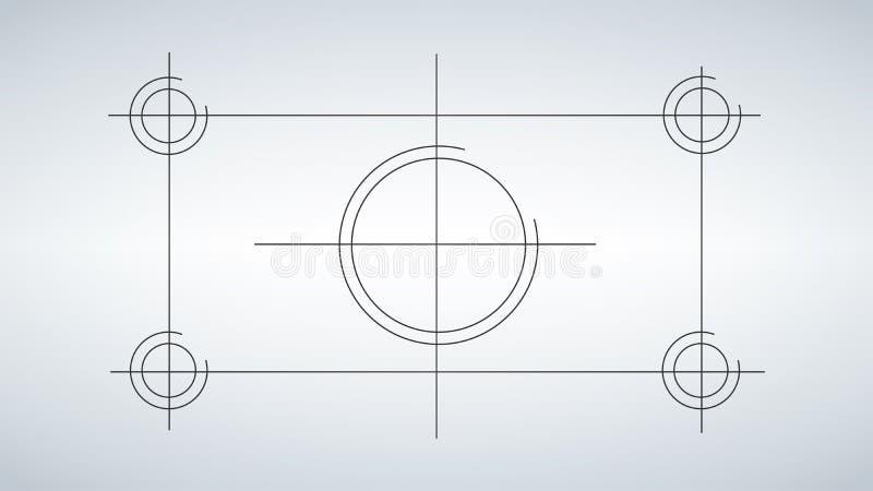 Abstracte technologieachtergrond, techniektekening Vector illustratie stock illustratie