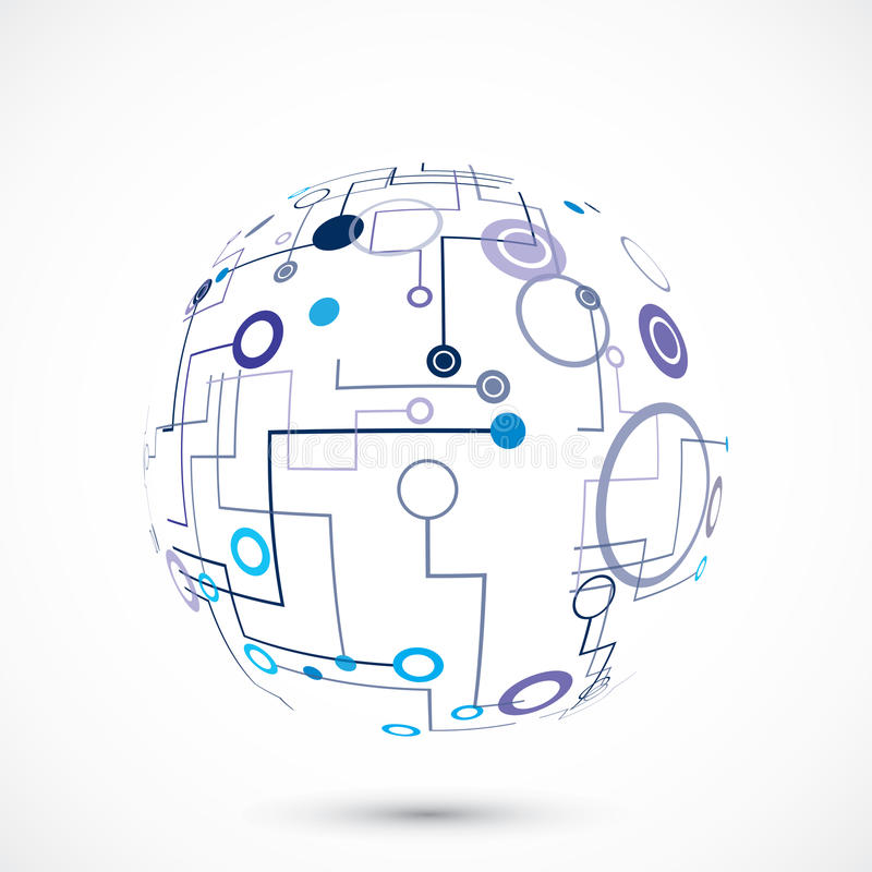 Abstracte technologiebol royalty-vrije illustratie
