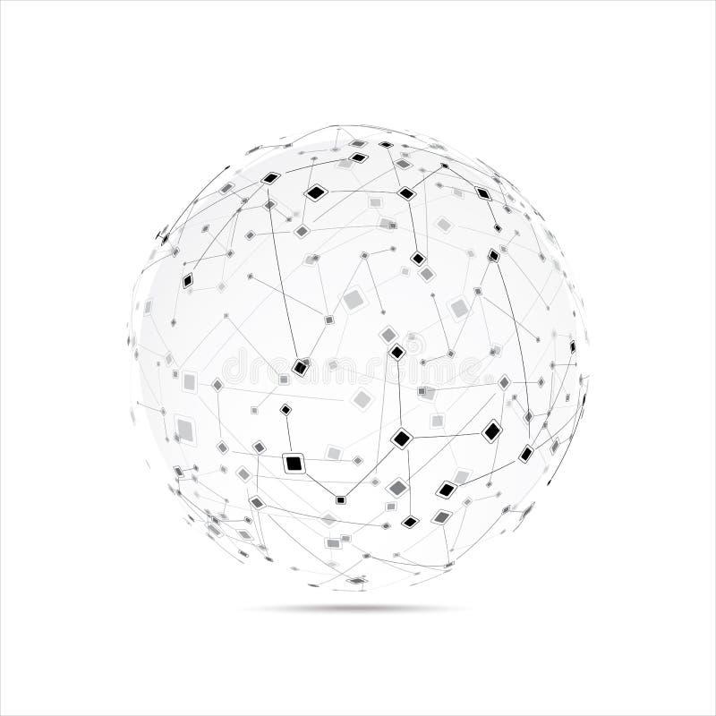 Abstracte technologiebol stock illustratie