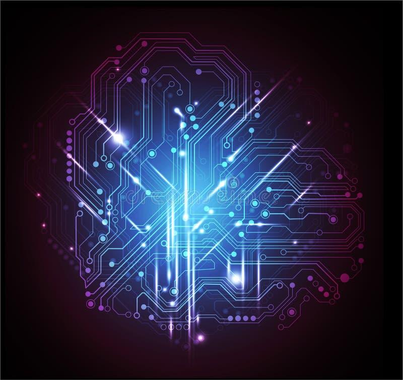 Abstracte technologievector als achtergrond stock illustratie