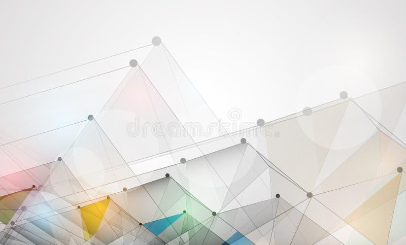 Abstracte technologiezaken als achtergrond & ontwikkelingsrichting stock illustratie