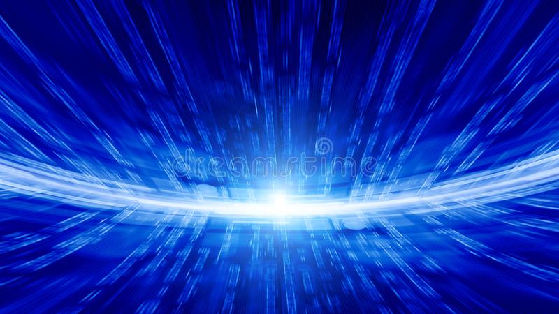 Abstracte technologische achtergrond stock illustratie