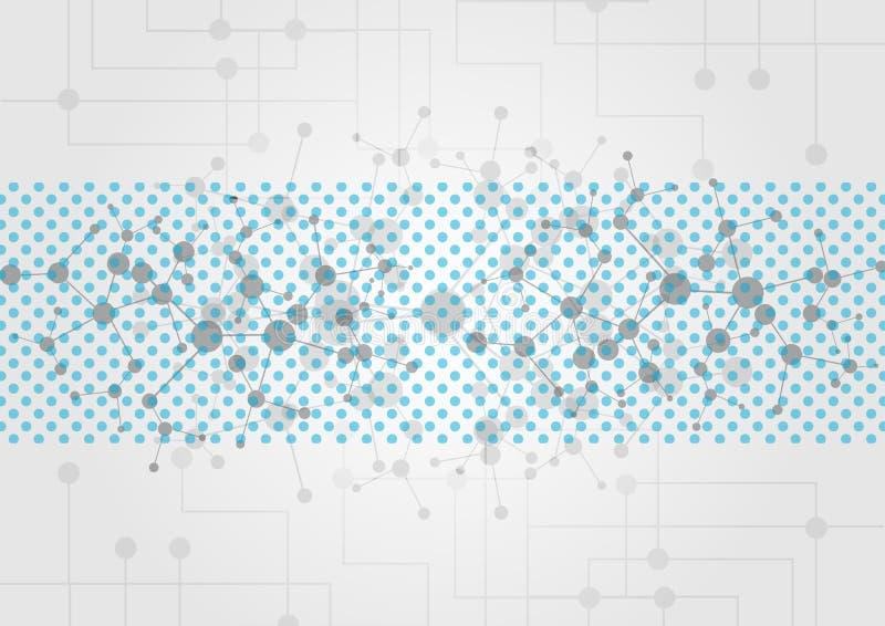 Abstracte technologische achtergrond met diverse technologische ele vector illustratie