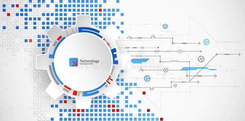Abstracte technologische achtergrond Structuur vierkant patroon stock illustratie