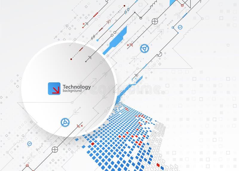 Abstracte technologische achtergrond Structuur vierkant patroon royalty-vrije illustratie