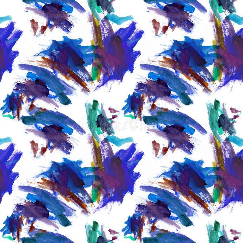 Abstracte tegel blauwe textiel royalty-vrije illustratie