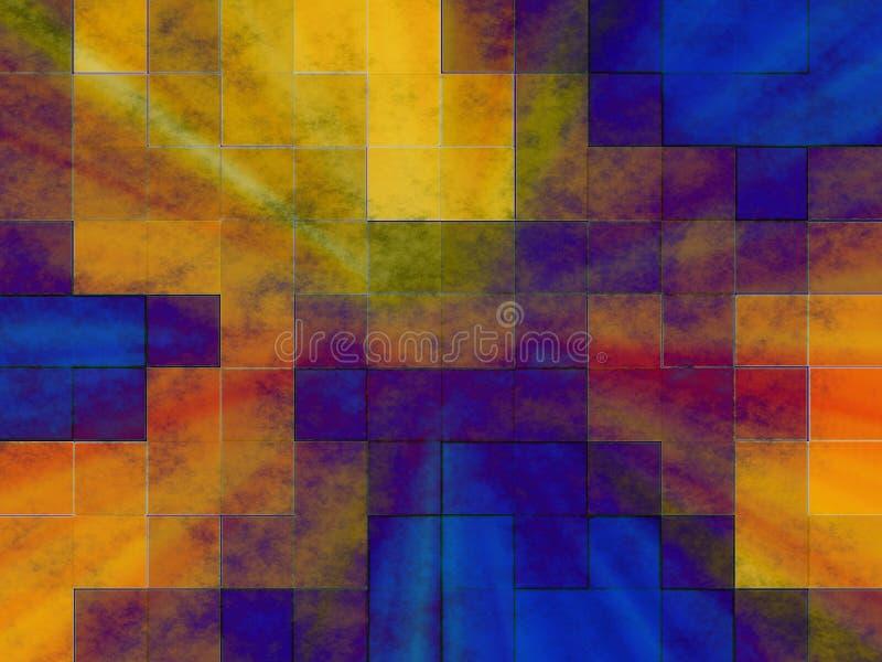 Abstracte tegels stock illustratie