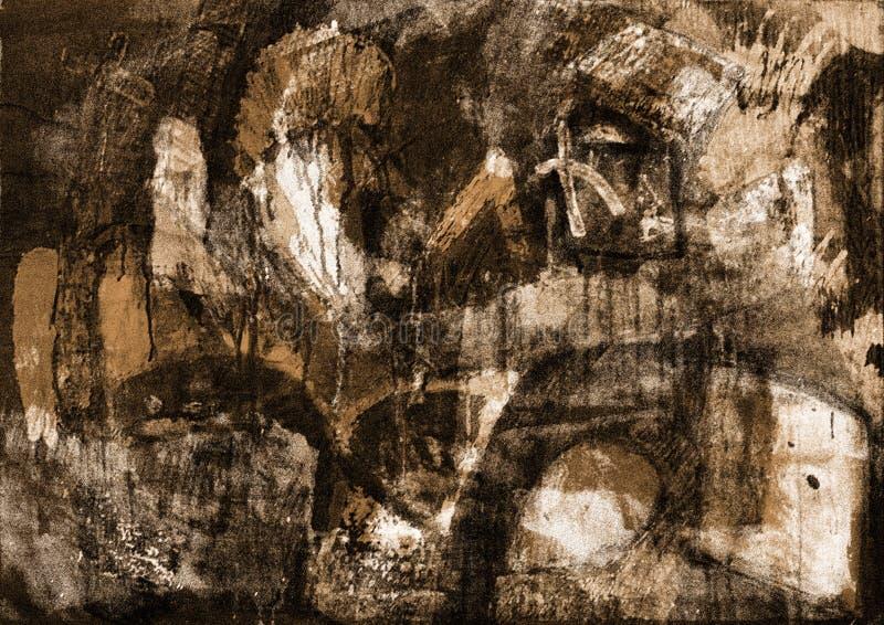 Abstracte tekens royalty-vrije illustratie
