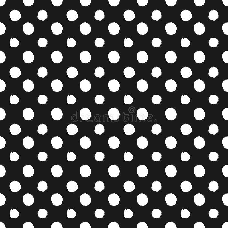 Abstracte ter beschikking getrokken van het stip naadloze patroon stijl stock illustratie