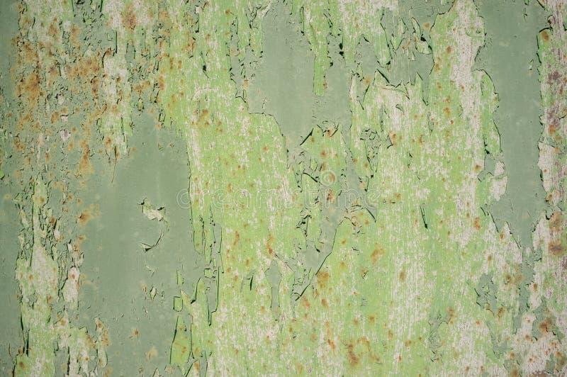 Abstracte Textuur van Oude Aangetaste Metaaldeur stock afbeelding