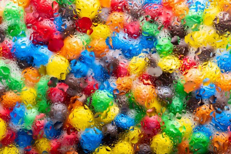Abstracte textuur voor ontwerp, kleurrijke achtergrond - heldere multi-colored vlekken zoals waterverf stock foto