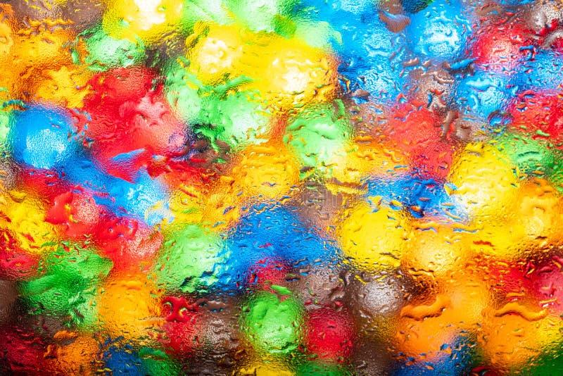 Abstracte textuur voor ontwerp, kleurrijke achtergrond - heldere multi-colored vlekken zoals waterverf stock fotografie